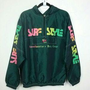 VTG Surf Style Windbreaker Jacket Neon